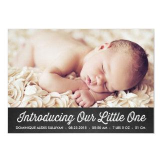 RETRO TYPOGRAPHY   CHALKBOARD BIRTH ANNOUNCEMENT