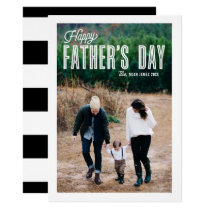 Retro Typography Photo Happy Father's Day Card