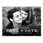 Retro Typography Photo Personalized Save the Date Postcards