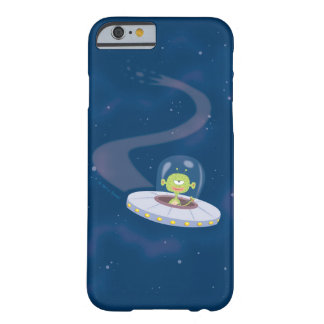 Retro UFO flying through space Barely There iPhone 6 Case
