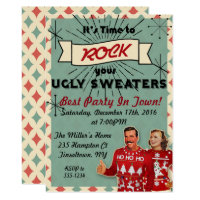 Retro Ugly Sweater Christmas Party Invitation