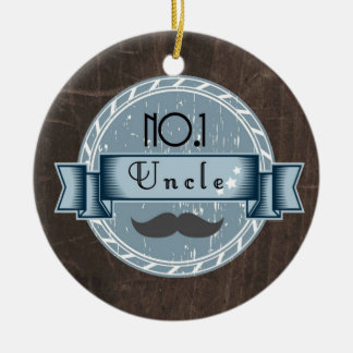 Retro UNCLE award Ceramic Ornament