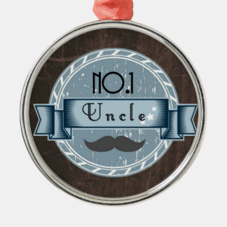 Retro UNCLE award Metal Ornament