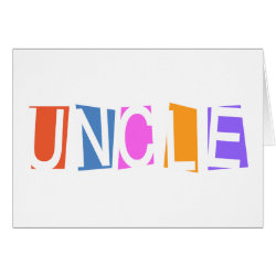 Greeting Card with Retro Uncle design