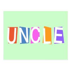 Postcard with Retro Uncle design