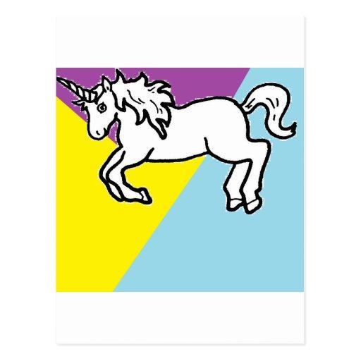 Retro Unicorn Postcard