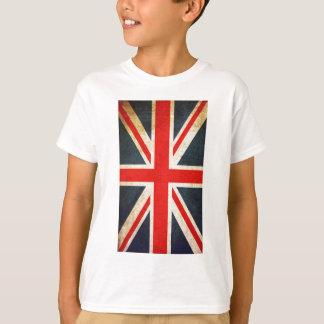 Retro Union Jack British Flag Hanes TAGLESS TShirt