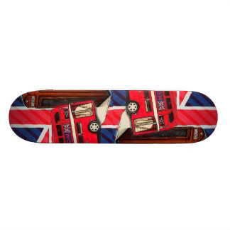 Retro Union Jack London Bus red telephone booth Skateboard