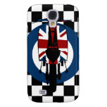 Retro Union Jack scooter on checks Samsung Galaxy S4 Cases