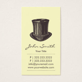 Retro Upper Class Top Hat Calling Card