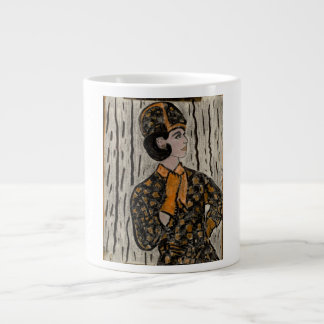 Retro Uptown Girl Giant Coffee Mug