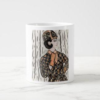 Retro Uptown Girl II Giant Coffee Mug