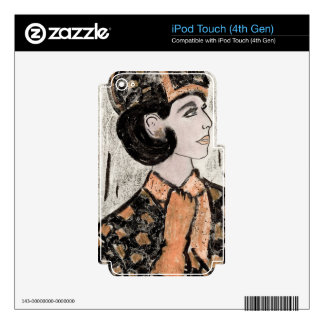 Retro Uptown Girl II iPod Touch 4G Skin