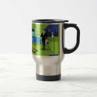 Retro Urban Cartoon Couple Travel Mug