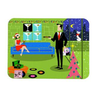Retro Urban Christmas Couple Flexi Magnet