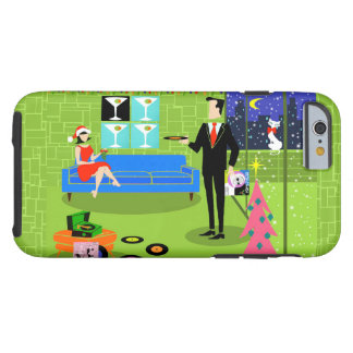 Retro Urban Christmas Couple iPhone 6 Case