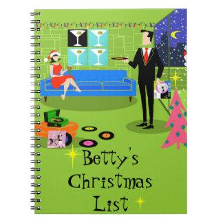 Retro Urban Christmas Couple Notebook