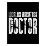 Retro Urban Cool Doctors : World's Greatest Doctor Poster