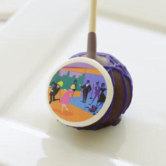 Retro Urban Rooftop Party Cake Pops