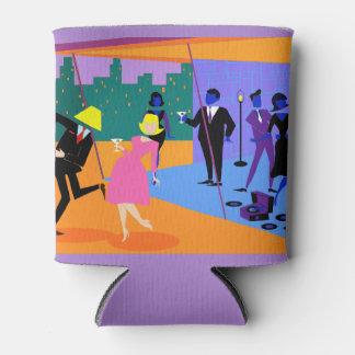 Retro Urban Rooftop Party Can Cooler