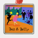 Retro Urban Rooftop Party Christmas Ornament