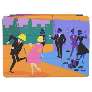 Retro Urban Rooftop Party iPad Air Cover