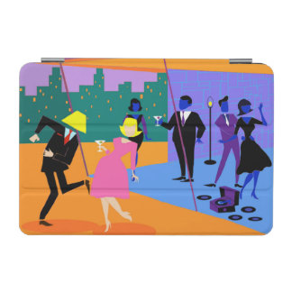 Retro Urban Rooftop Party iPad Mini Cover
