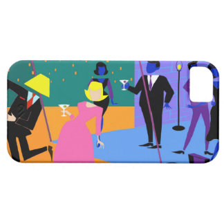 Retro Urban Rooftop Party iPhone 5/5S Case