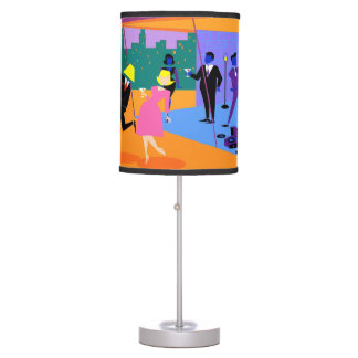 Retro Urban Rooftop Party Table Lamp