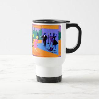 Retro Urban Rooftop Party Travel Mug