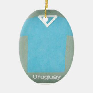 Retro Uruguay  Football Jersey Ceramic Ornament