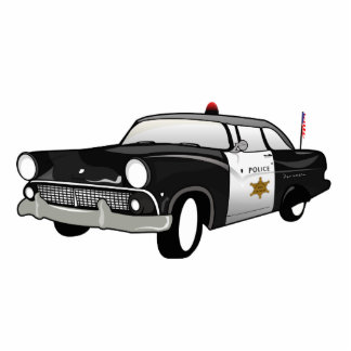Retro US Car Magnet - State Police