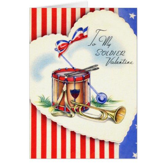 Retro US Military Valentine's Day Card