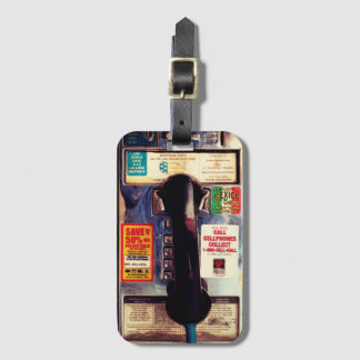 Retro US Public Pay Phone Funny Look Luggage Tag