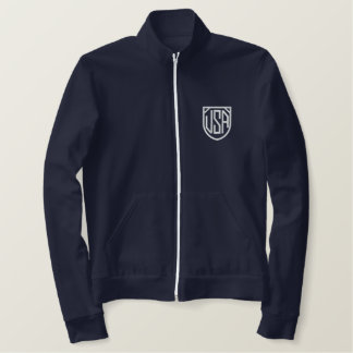 Retro USA AA embroidered tracksuit top Navy