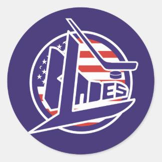 Retro USA Blades Hockey Stickers