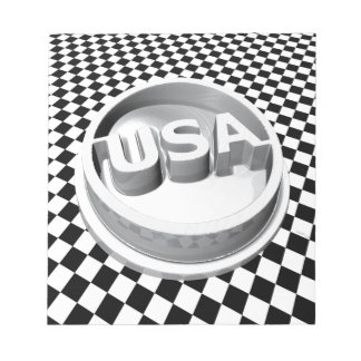 Retro USA Emblem Memo Notepads