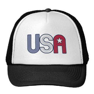 Retro USA With Star Patriotic Mesh Hat