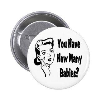 ¿Retro usted tiene cuántos bebés? Pin