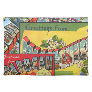 Retro Vacation Cards Placemat