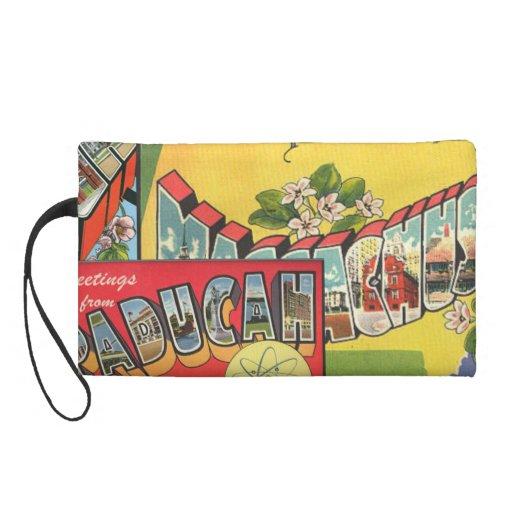 Retro Vacation Cards Wristlet Purses