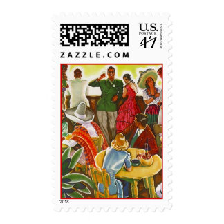 Retro Vacation Holiday In Mexico Postage Stamps