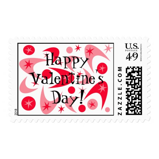 Retro Valentine Boomerang Postage
