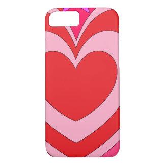 Retro Valentine Heart Abstract iPhone 8/7 Case