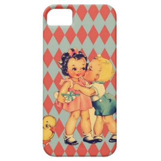 Retro Valentine Kitsch Vintage Kids iPhone SE/5/5s Case