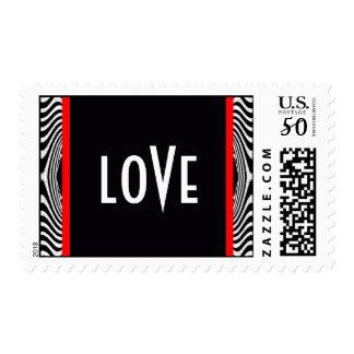 Retro Valentine Love Bride Groom / House-of-Grosch Postage