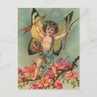 Retro Valentine Postcard postcard