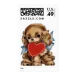 Retro Valentine Puppy Postage
