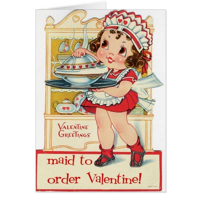 Retro Valentine's Day Maid Card