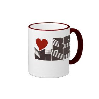 Retro Valentines Day Ringer Coffee Mug